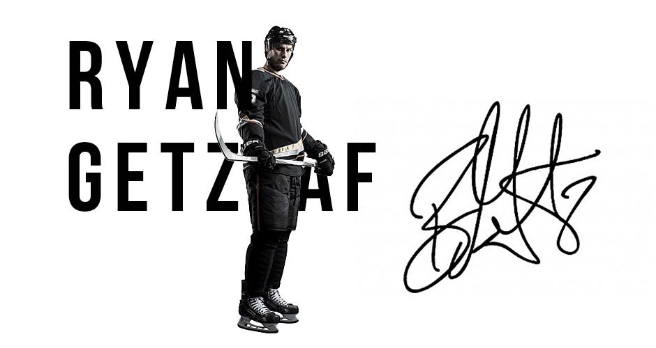 프로 하키 스타, Ryan Getzlaf 스폰서 갱신